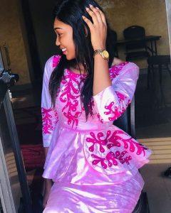 ankara lace peplum skirt and blouse for beautiful ladies