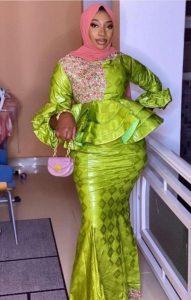unique ankara peplum skirt and blouse, hausa style