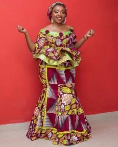 stylish ankara peplum skirt and blouse style for young ladies
