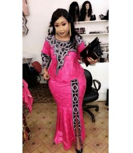 embroidered african print skirt and blouse style for church and wedding