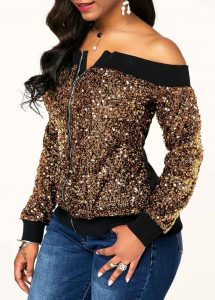 special ankara off shoulder sweater, blouse with denim jeans trousers for young ladies