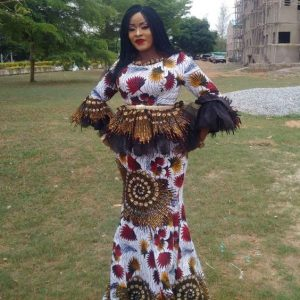 unique ankara peplum long skirt and blouse for young celebrities