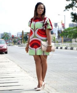 simple but cute ankara short shirt gown for young ladies