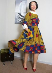 african print ankara short gown style for church and wedding