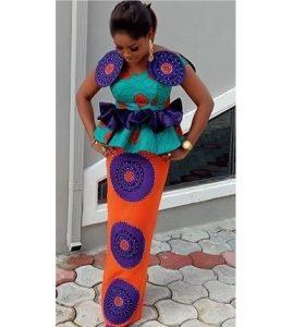 trending ankara peplum blouse with long skirt for wedding