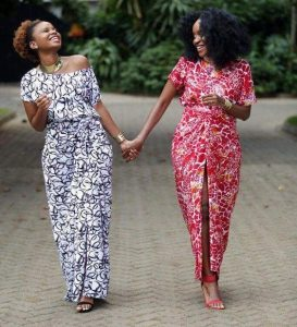 stylish ankara print long gown styles for young ladies