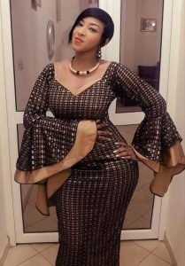 latest ankara lace long gown for curvy young ladies