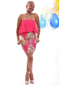 sleeveless, ankara african print short gown for classy young ladies