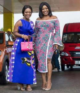jackie appiah and gloria sarfo spotted in classy ankara gowns