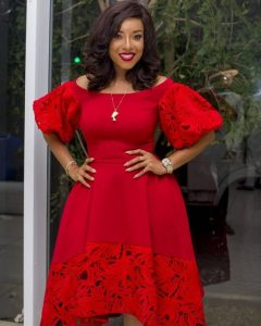 ankara plus lace short gown style for young, beautiful, curvy ladies, wedding and church fashion style