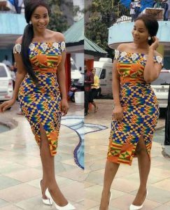 short ankara split gown for curvy slay queens