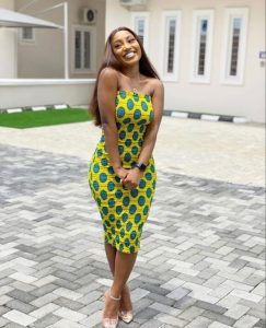 ankara sleeveless gown for curvy young ladies