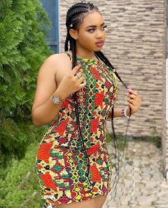 hot short ankara gown for curvy ladies, party fashions