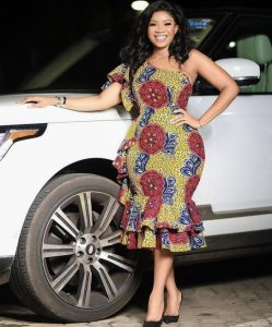 ankara peplum gown for curvy young ladies