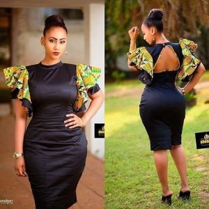 simple but cute ankara short gown style for curvy young ladies