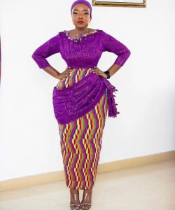 gorgeous ankara long gown for tradtional wedding and church, curvy ladies style