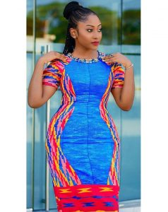 cute and simple ankara short gown style for young ladies
