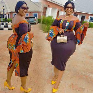 ankara gown for plus size curvy ladies