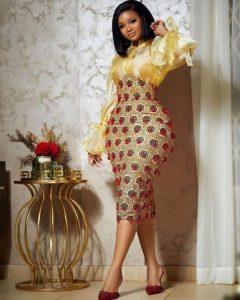 cute ankara short pencil gown for curvy ladies