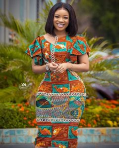 corporate ankara short gown style for curvy young ladies