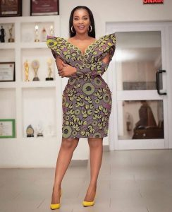 stylish ankara short gown style for wedding and other outings