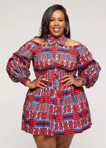 fat young ladies ankara short gown style