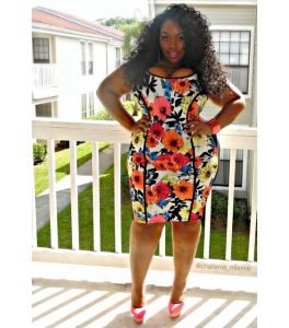 hot ankara short gown for busty, plus size, curvy ladies