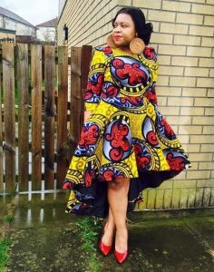 stylish ankara short gown for plus size young ladies