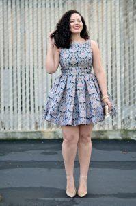 ankara short gown for chubby curvy ladies