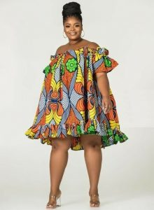 cute ankara short gown for plus size young ladies