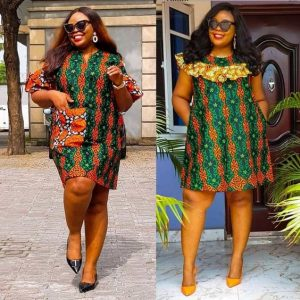 simple but cute ankara short gown for wedding, church and office work