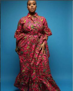 busty, plus size ladies long ankara gown style