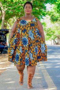 fat ladies ankara short gown