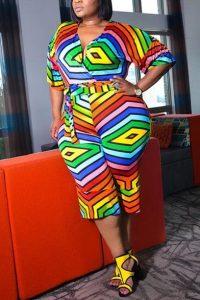 ankara palazzo jumpsuit style plus size, busty, curvy ladies