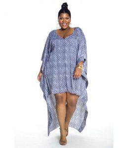 stylish ankara maxi gown for plus size ladies, ankara kaftan style