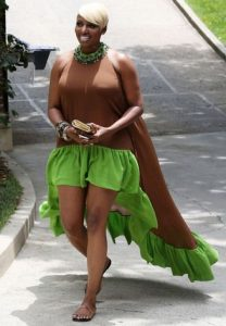 stylish short ankara gown style for plus size, busty ladies