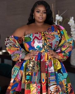 ready made ankara short gown style for beautiful plus size, busty ladies, ankara party style