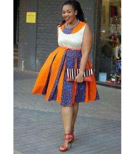 latest ankara cinderella short gown