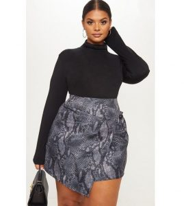 long sleeve blouse with short ankara skirt-wrapper style for plus size ladies