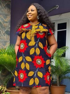 ankara short gown style for chubby ladies