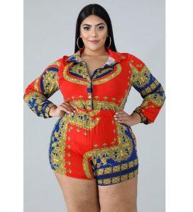 short ankara pajamas style for plus size, curvy ladies