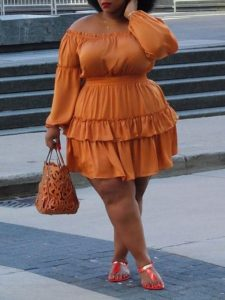 cute short ankara gown for curvy, fat young ladies