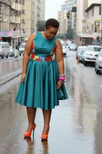 short sleeve ankara cinderella style gown for chubby young ladies