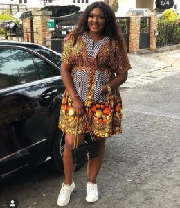simple but beautiful ankara short gown style for young plus size ladies