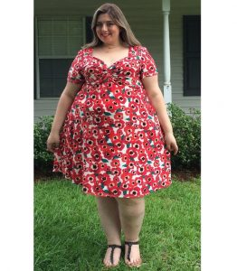 simple ankara short flay gown for fat ladies