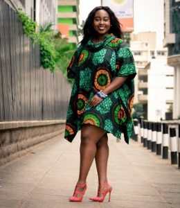 short ankara kaftan gown for plus size, young ladies