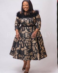 classy ankara flay gown for curvy, plus size young ladies