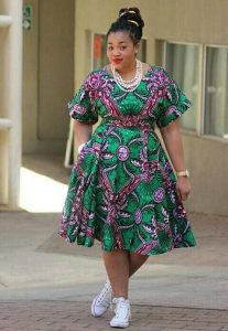 short ankara gown for chubby young ladies