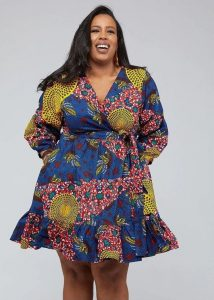 plus size ladies ankara short gown style for any occasion