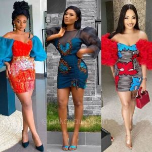 which of these ankara short pencil gowns with stylish sleeves do you love most